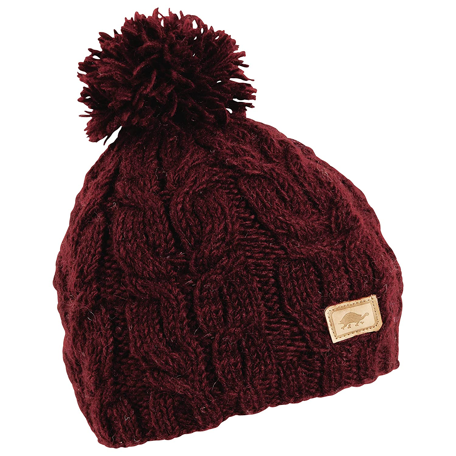 Amazon.com   Turtle Fur Achindra Nepal Hand Knit Wool Beanie Lined Fleece  Black   Sports   Outdoors 34c6ce4ec39