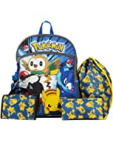 Nintendo Pokemon Blue and Yellow 16 Backpack Back to School Essentials Set