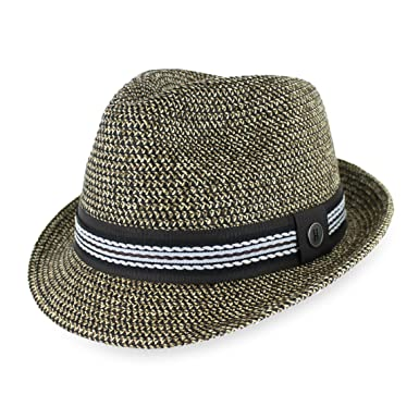 87e146d3d6f4d Belfry Men Women Summer Straw Trilby Fedora Hat in Blue Tan Black at ...