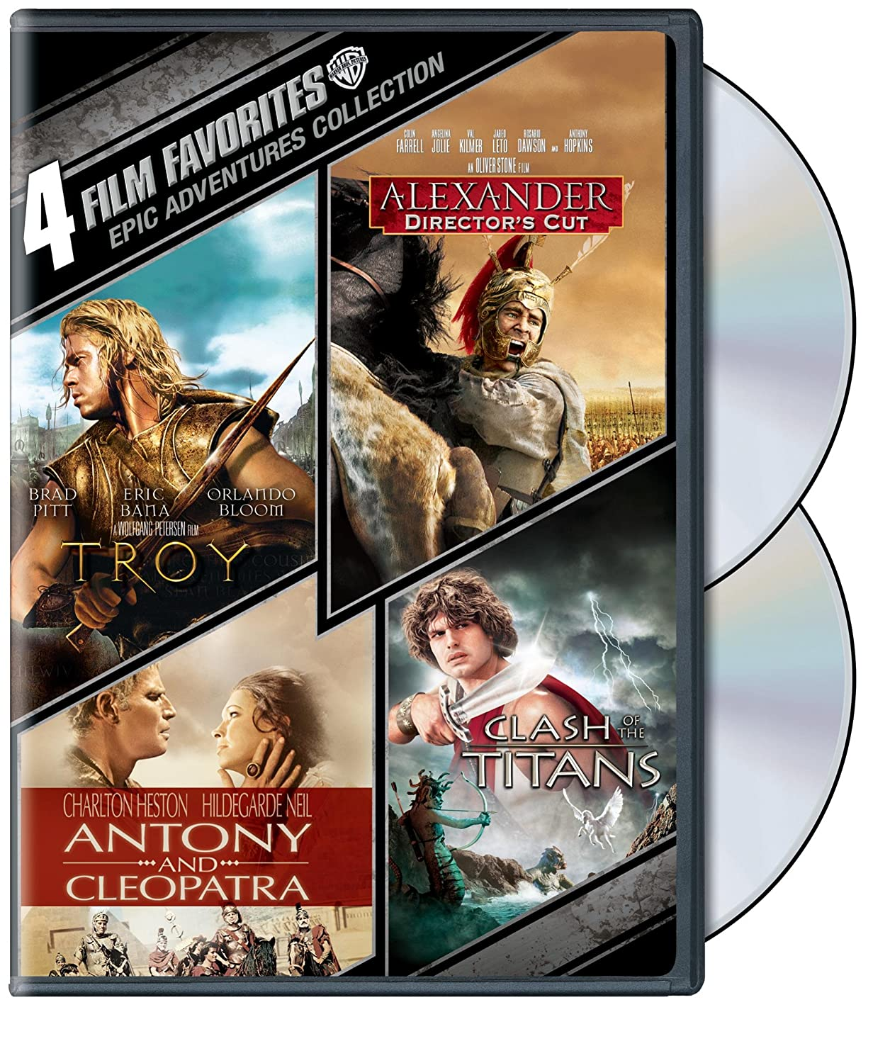 4 Film Favorites: Epic Adventures (Alexander / Antony & Cleopatra / Clash of the Titans / Troy)