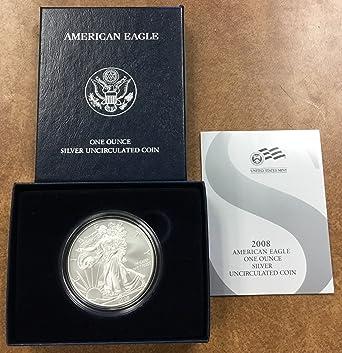 2007 American Eagle One Ounce Silver Uncirculated Coin w// Box /& COA