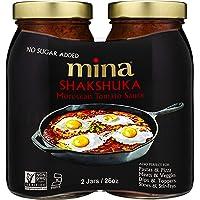 "Mina Shakshuka, Tomato Sauce - Twin Pack (2 x 26 oz) - No Sugar Added, Keto Friendly - The ""Everything Sauce"", Perfect as Pasta, Marinara, or Spaghetti Sauce"