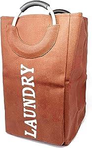 allgala Canvas Like Laundry Bag with Aluminium Handle-Coral-LB80504