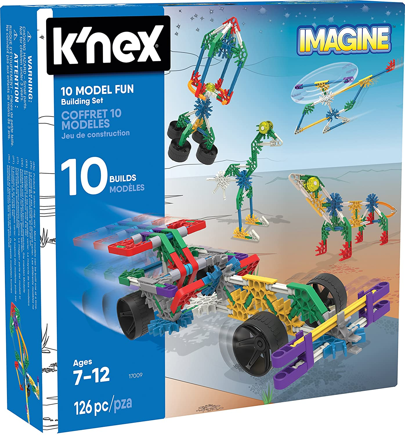 K'Nex KNEX Imagine 10 Model Building Fun Set for Ages 7+, Engineering Education Toy, 126 Pieces K'Nex 17009