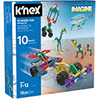 K'Nex KNEX Imagine 10 Model Building Fun Set for Ages 7+, Engineering Education Toy, 126 Pieces