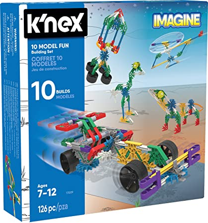 79479f497b8 Amazon.com: KNEX 10 Model Building Fun Set 126 Pieces Ages 7+ Engineering  Education Toy: Toys & Games