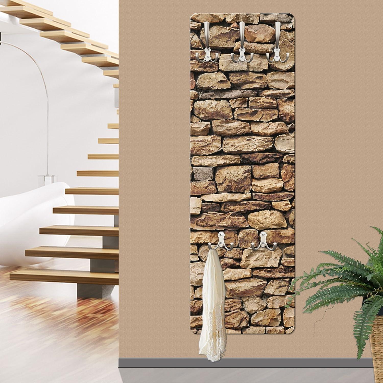 Apalis 67495appendiabiti da parete muro di pietra americana, 139x 46cm