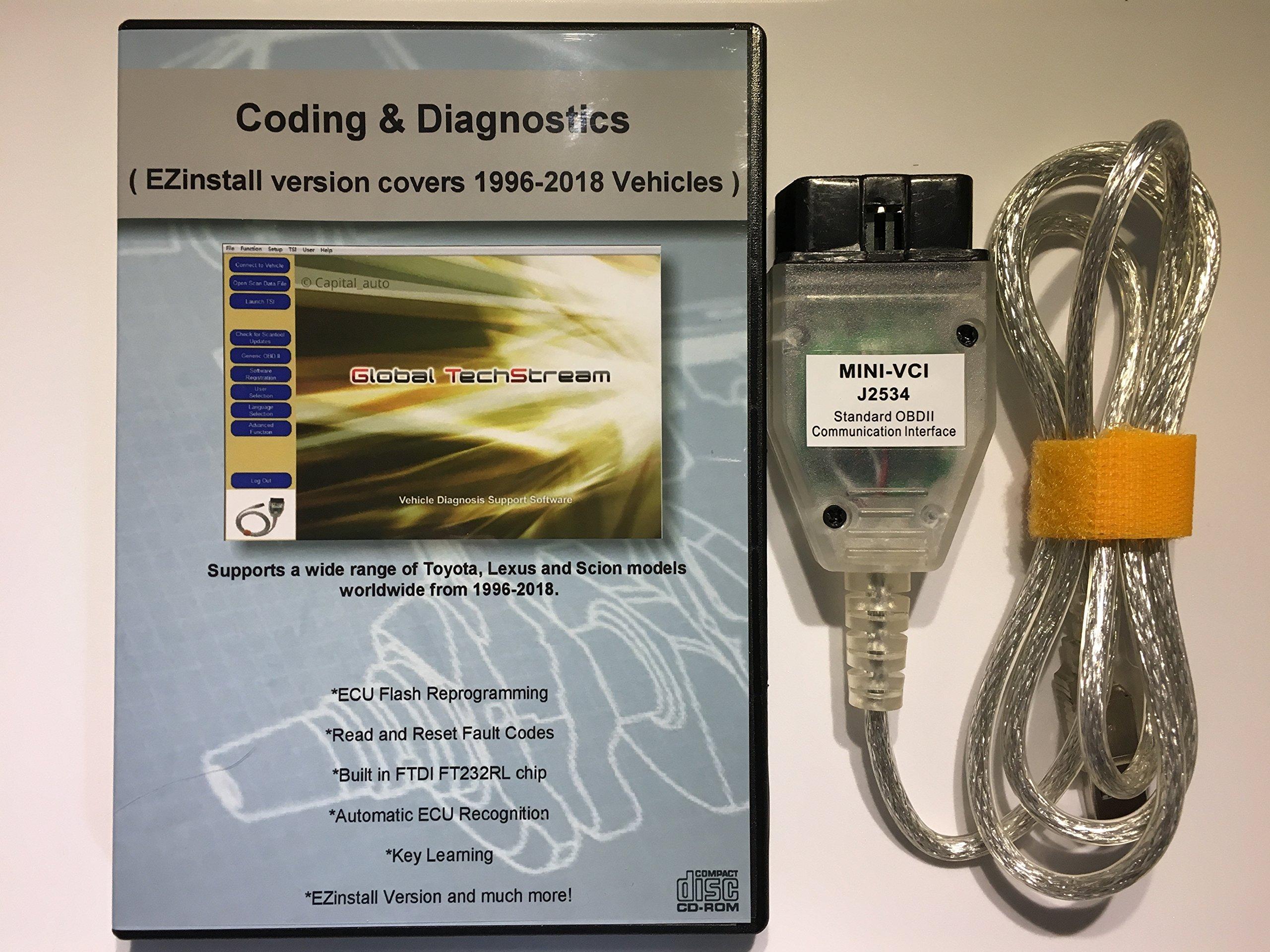 capital_auto Mini VCI J2534 Diagnostic Cable for Toyota