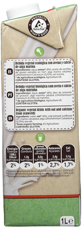 La Finestra Sul Cielo Bebida Vegetal de Avena con Calcio - Paquete de 6 x 1000 ml - Total: 6000 ml: Amazon.es: Alimentación y bebidas