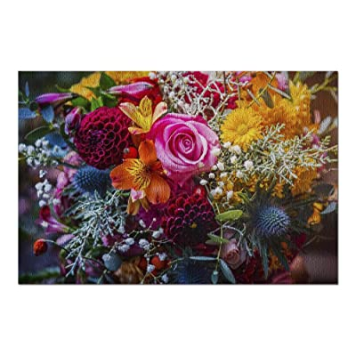 Beautiful, Vivid, Colorful Mixed Flower Bouquet Still Life Detail 9018105 (Premium 1000 Piece Jigsaw Puzzle for Adults, 20x30, Made in USA!): Toys & Games