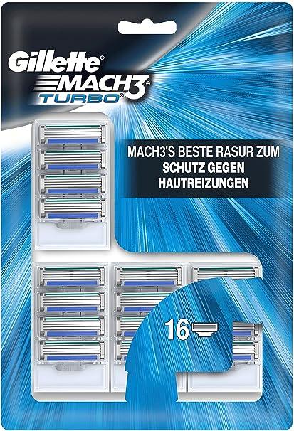 Gillette Mach3 Turbo sistema de protección de la cuchillas, 1er Juego de Cartuchos de (