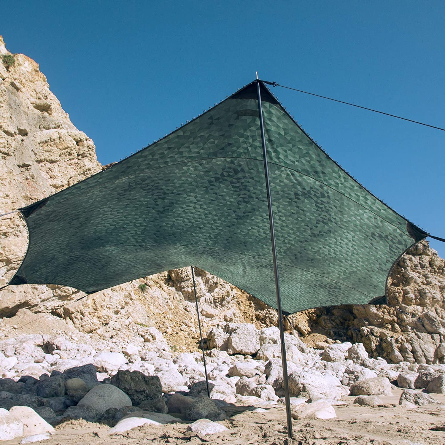 Supports 1/% for The Planet HEIMPLANET Original Tent Tarp with 5000Mm Water Column Dawn Tarp Shelter