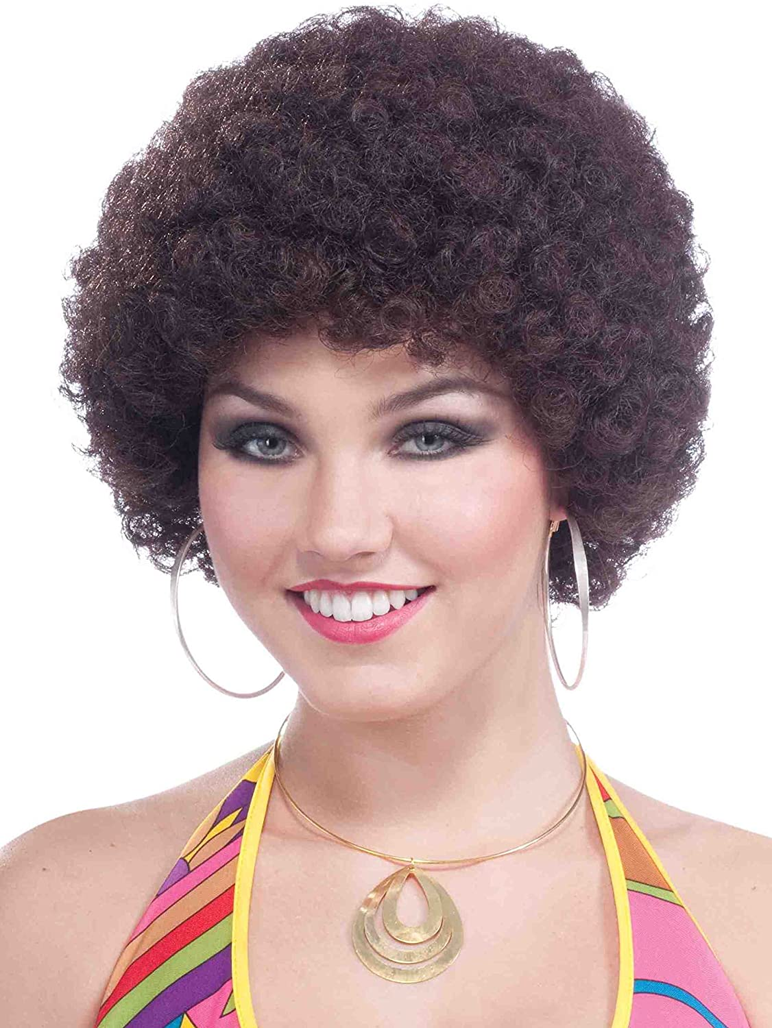 Women Super Afro Costume Wig Disco Clown Halloween Fake Artificial Hair Cosplay