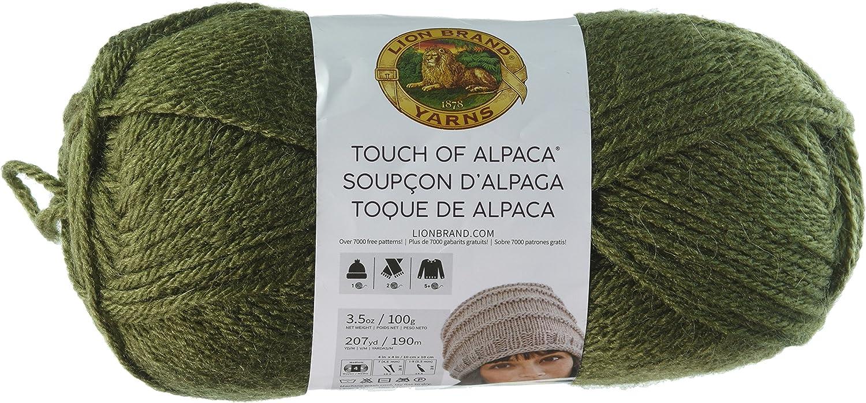 Lion Brand Yarn 674-153 Touch of Alpaca Yarn Black