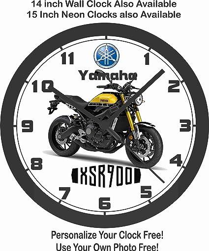 Yamaha xsr900 motocicleta pared clock-free EE. UU. Barco. -Choose 1