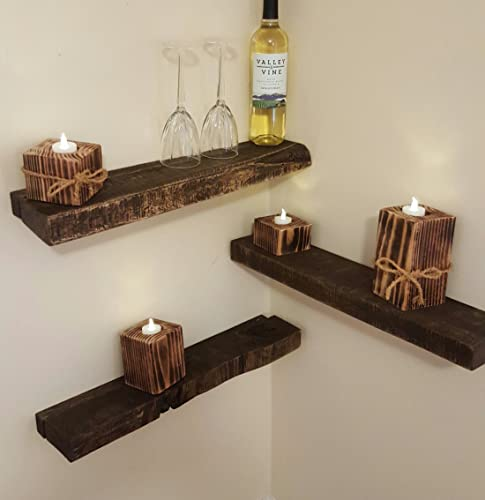 Floating Rustic Shelves - Choose your size and finish