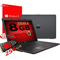 "Notebook Pc Portatile HP 255 G7 Display 15.6"" /Cpu Amd A4 da 2,3ghz A 2,6GHz /Ram 8Gb ddr4 /SSD M2 256GB /Vga Radeon R3 / Hdmi / Masterizzatore Wifi Bluetooth /Licenza Windows 10 pro + Open Office"