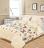 King Size Duvet / Quilt Cover Bedding Set Multi Butterfly Glaze