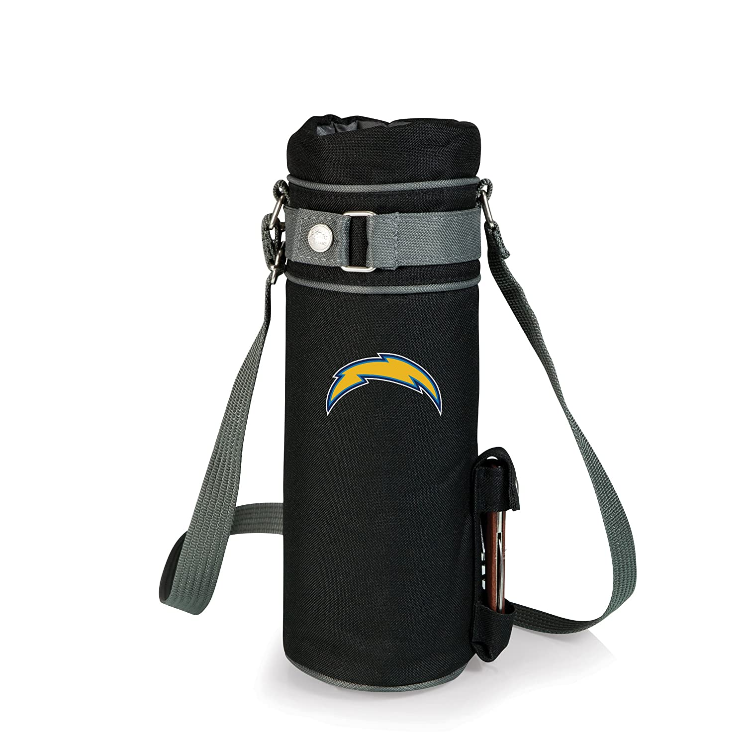 NFL Los Angeles Chargers InsulatedシングルボトルWine Tote withコルクスクリュー、ブラック   B0713MTMVV