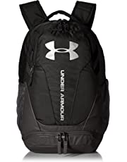 Under Armour UA Hustle 3.0 Mochila, Unisex Adulto, Negro Black/Silver 001, 34.5 x 23.6 x 48 cm