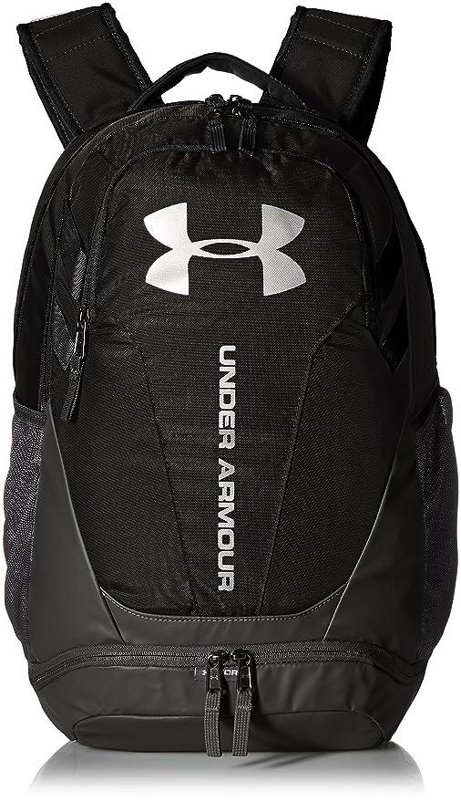 Under Armour Hustle 3.0 Backpack, Black (001)/Silver, One Size best gym backpacks
