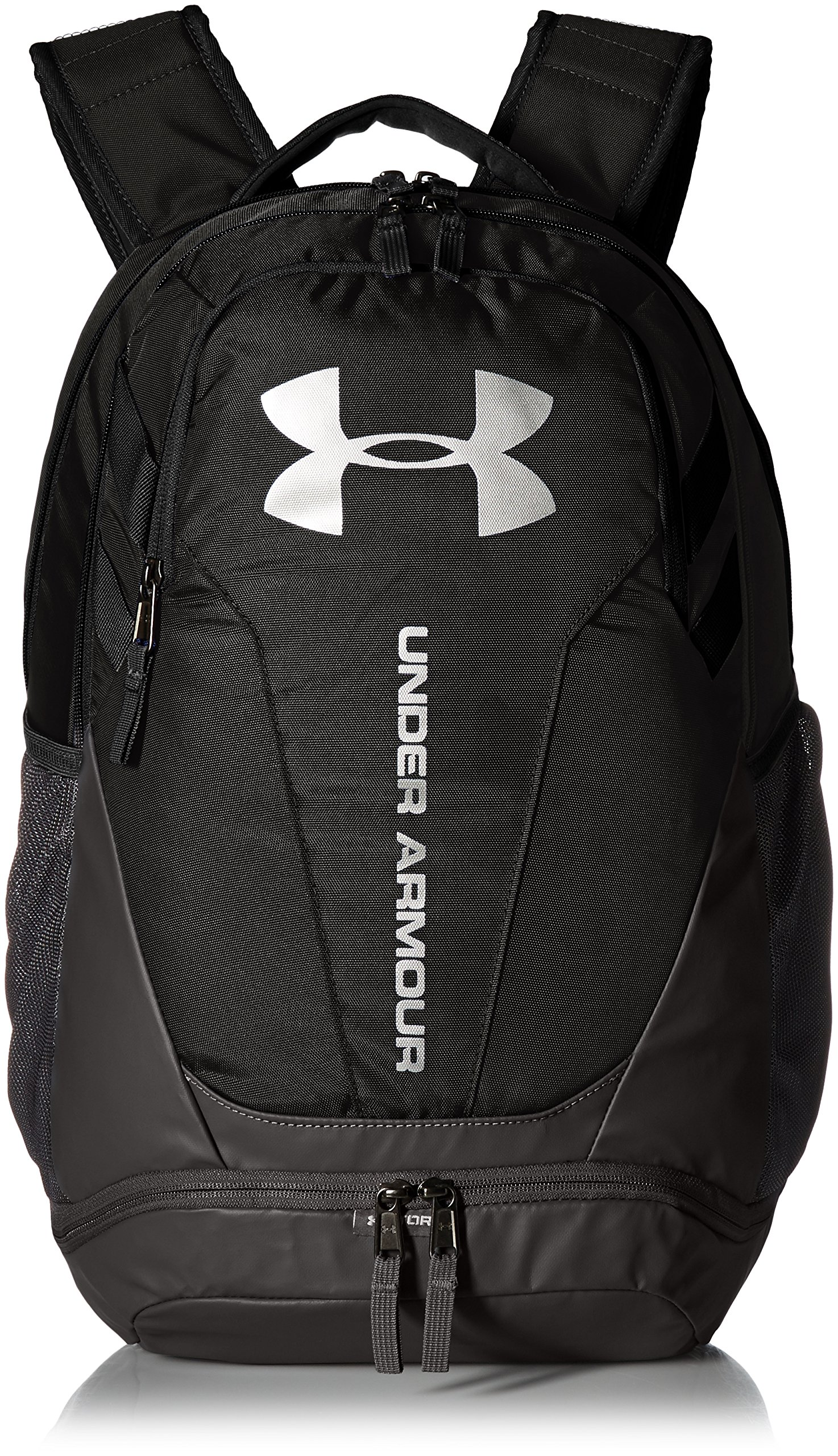 Under Armour UA Hustle 3.0 Mochila, Unisex Adulto, Negro Black/Silver 001,