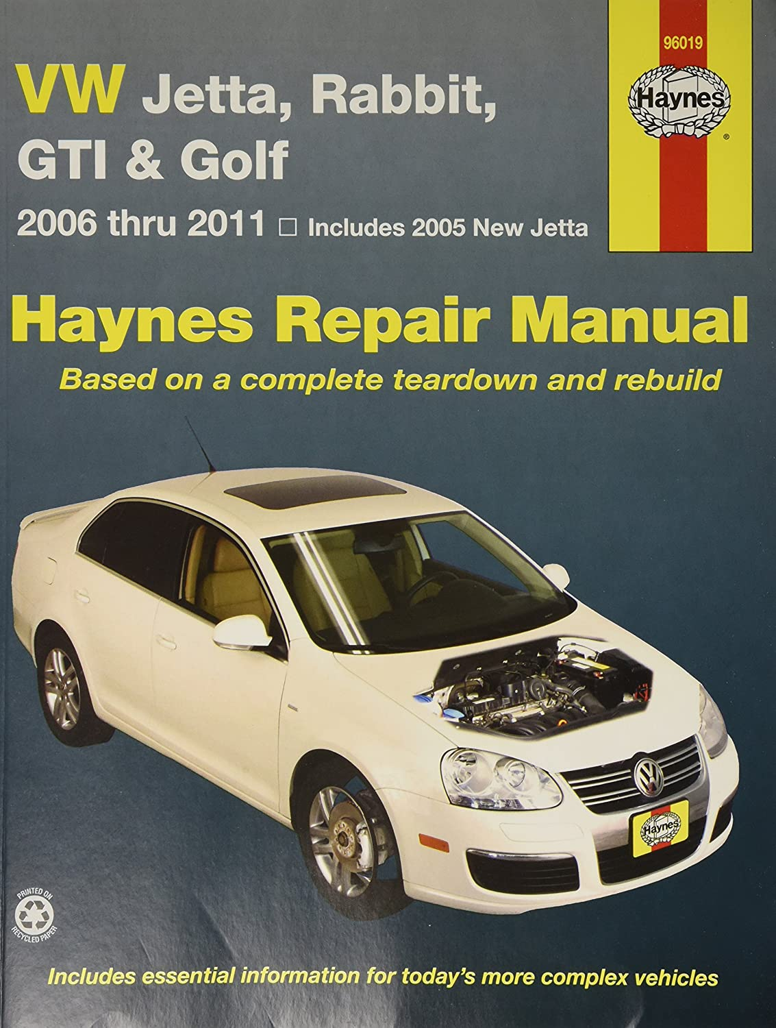 Amazon.com: Haynes Repair Manuals VW Jetta, Rabbit, GTI, GLI & Golf '05-'11  (96019): Automotive