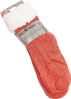 Calcetines de grueso lana con piel de cordero