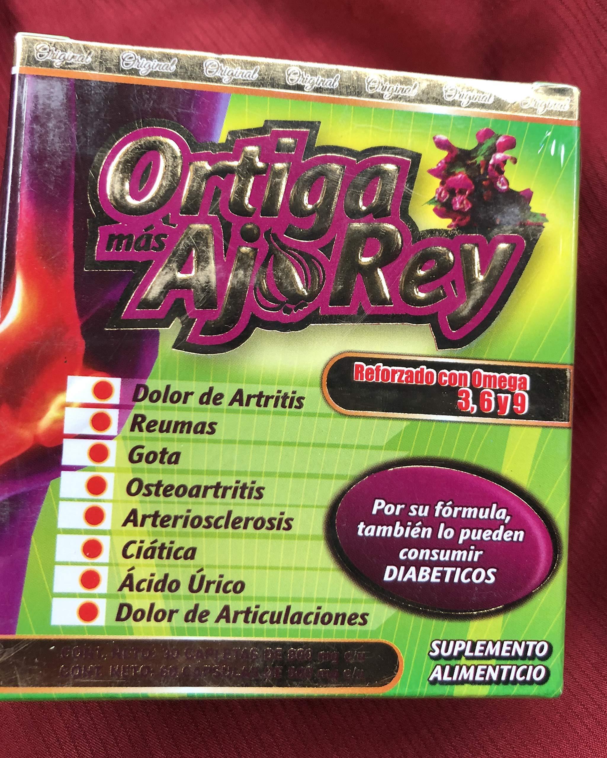 Reliable ORТlGA МАS АJО Rey 100% Original Con Omega 3 6 Y 9 Arthritis Herbs