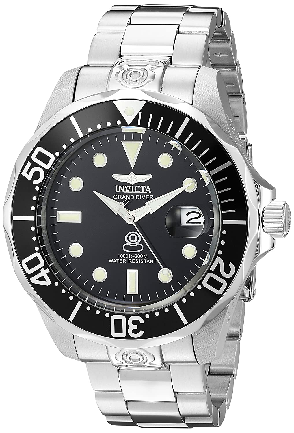 cb021dfe933 Amazon.com  Invicta Men s 3044 Stainless Steel Grand Diver Automatic Watch