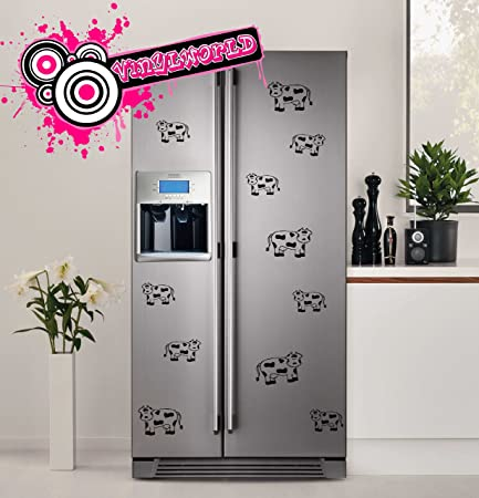 Cute Cow Stickers For Fridges Kitchen Vinyl Decal Graphics Not Magnets
