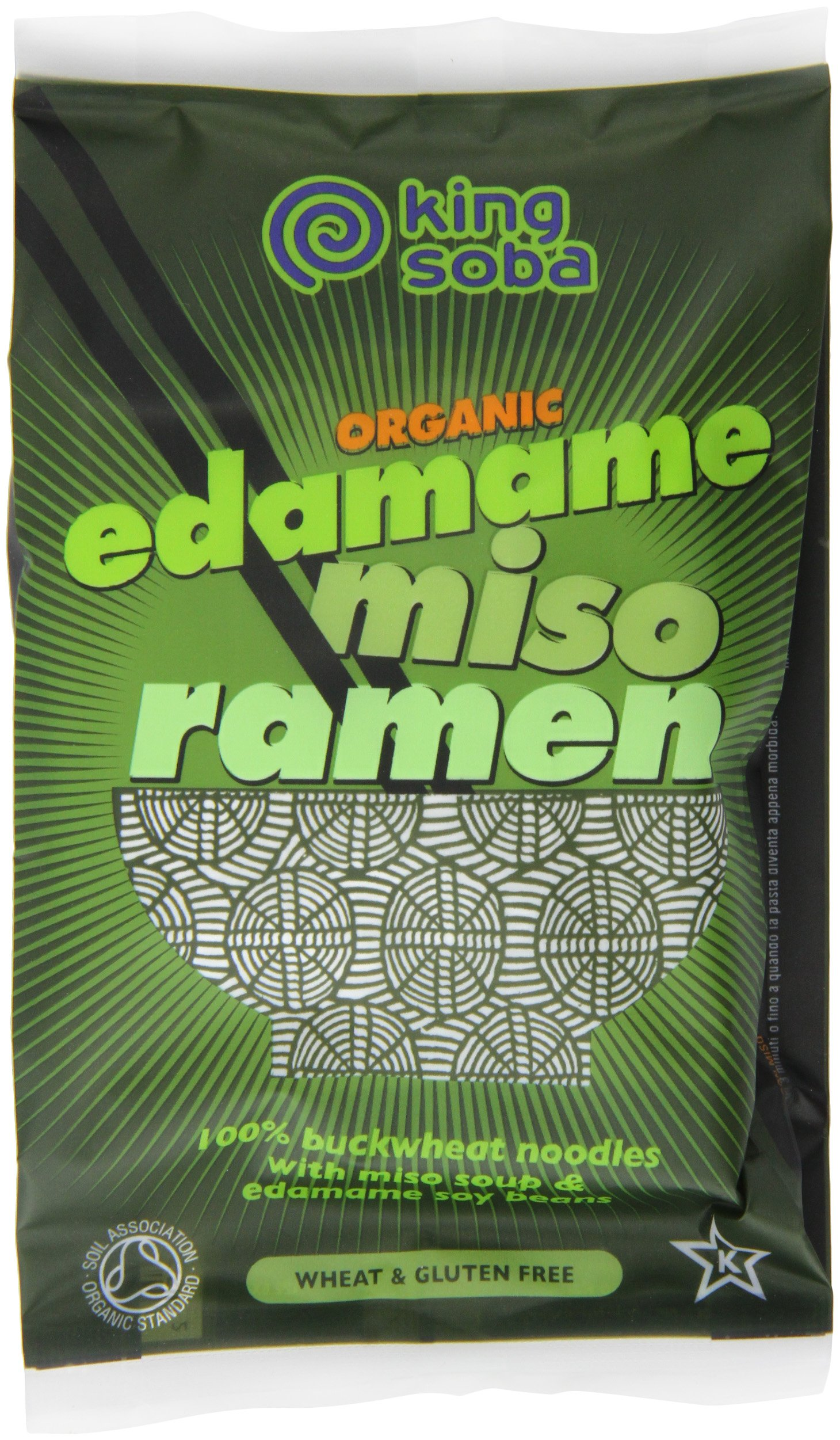 King Soba Noodles Organic Edamame Miso Ramen Noodles, 2.8 Ounce (Pack of 6)