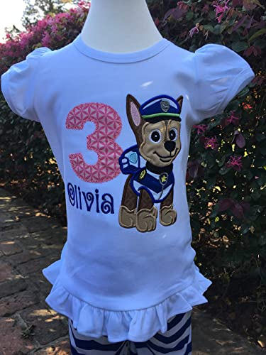 Amazon Chase Paw Patrol Shirt Personalized Birthday Top Handmade