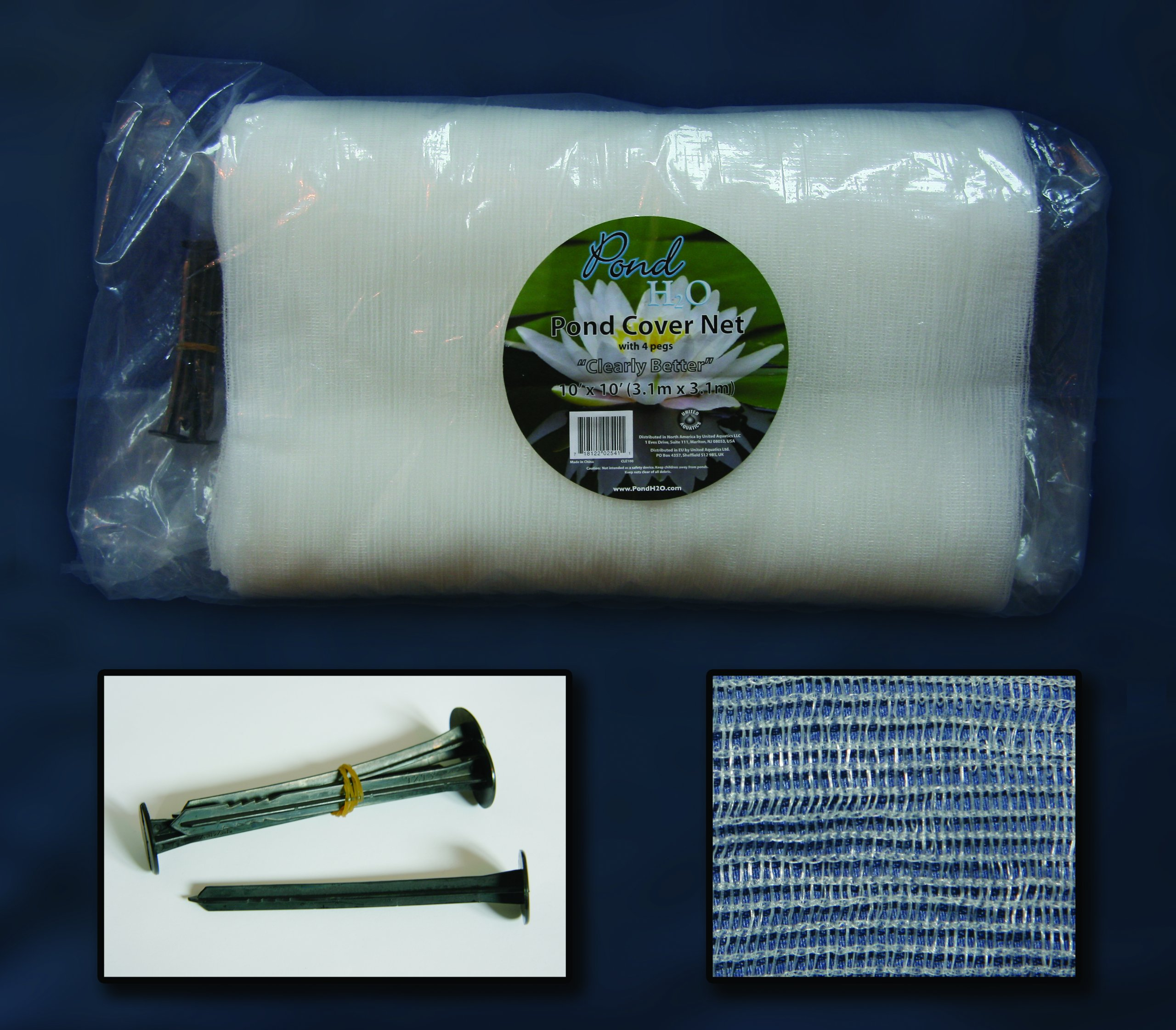 Clear Pond Netting Size: 20 ft x 33 ft. by United Aquatics