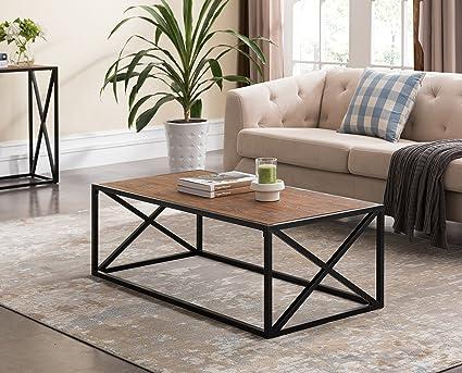 Amazon.com: Vintage Brown / Black Frame X-Design Sides Occasional ...