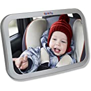 EPAuto Baby Car Back Seat Mirror for Baby and Mom Rear Facing View, Wide Convex Shatterproof Glass and Fully Assembled Crash Tested