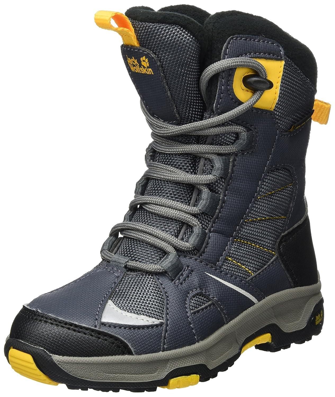 gris (Burly jaune Xt 3802) 34 EU Jack Wolfskin garçons Snow Ride Texapore, Bottes de Neige garçon