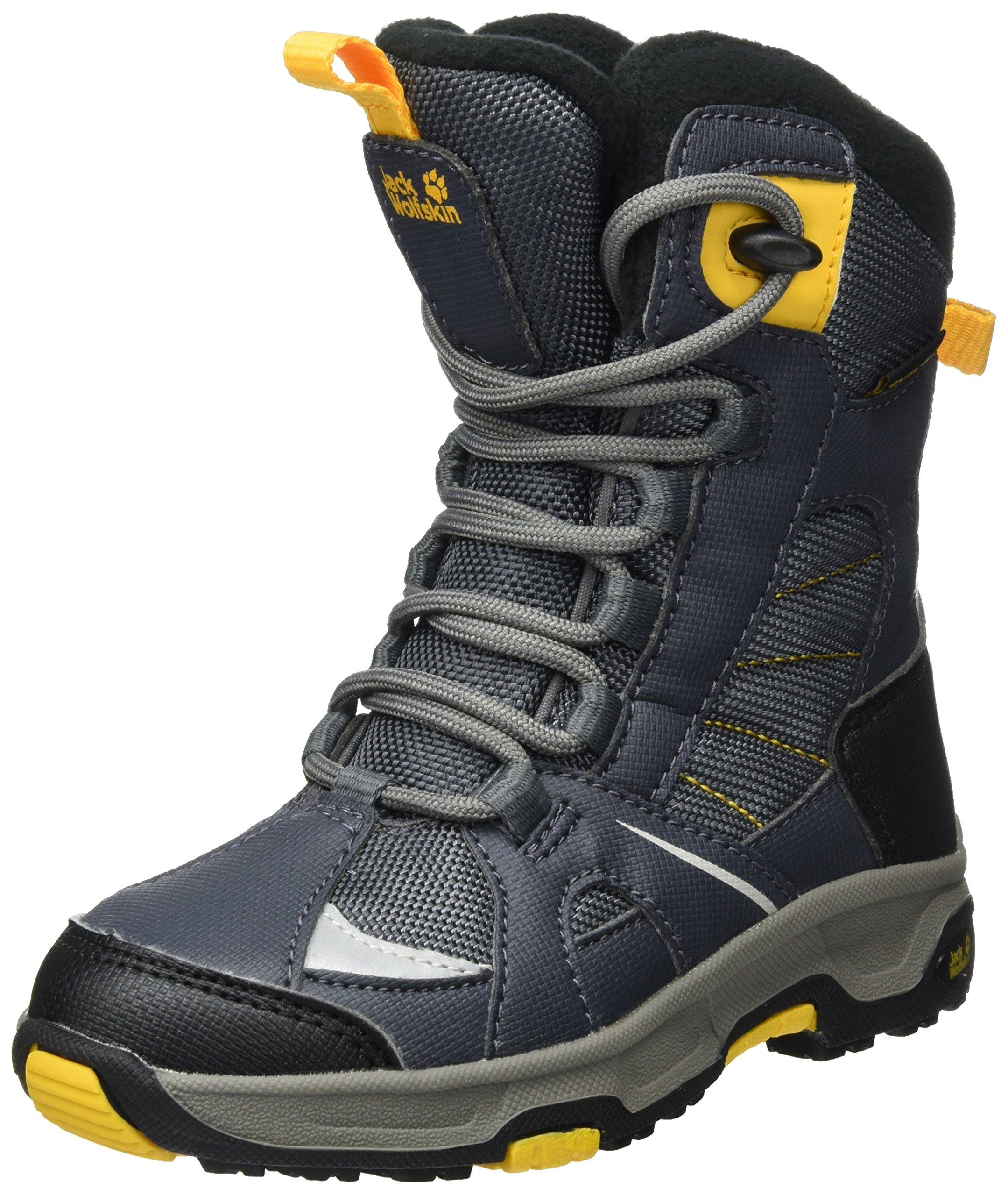 Jack Wolfskin Boys' Ride Texapore Snow Boot, Burly Yellow XT, 6.5 M US Big Kid