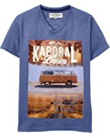 Kaporal - T-shirt - Imprimé - Col V - Manches courtes - Garçon
