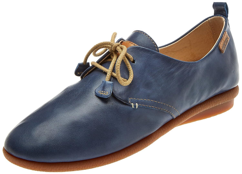 Pikolinos Calabria W9k, Zapatos de Cordones Brogue para Mujer 39 EU|Azul (Nautic)