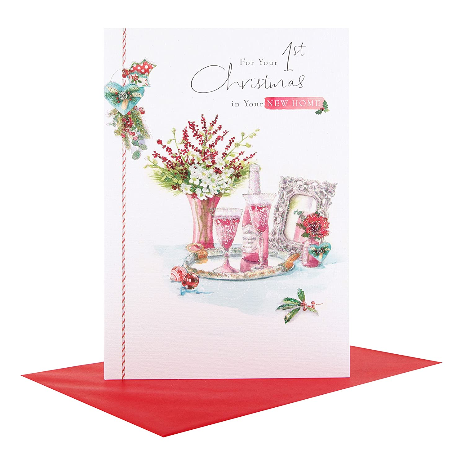 Hallmark christmas card 1st in your new home medium amazon hallmark christmas card 1st in your new home medium amazon office products m4hsunfo