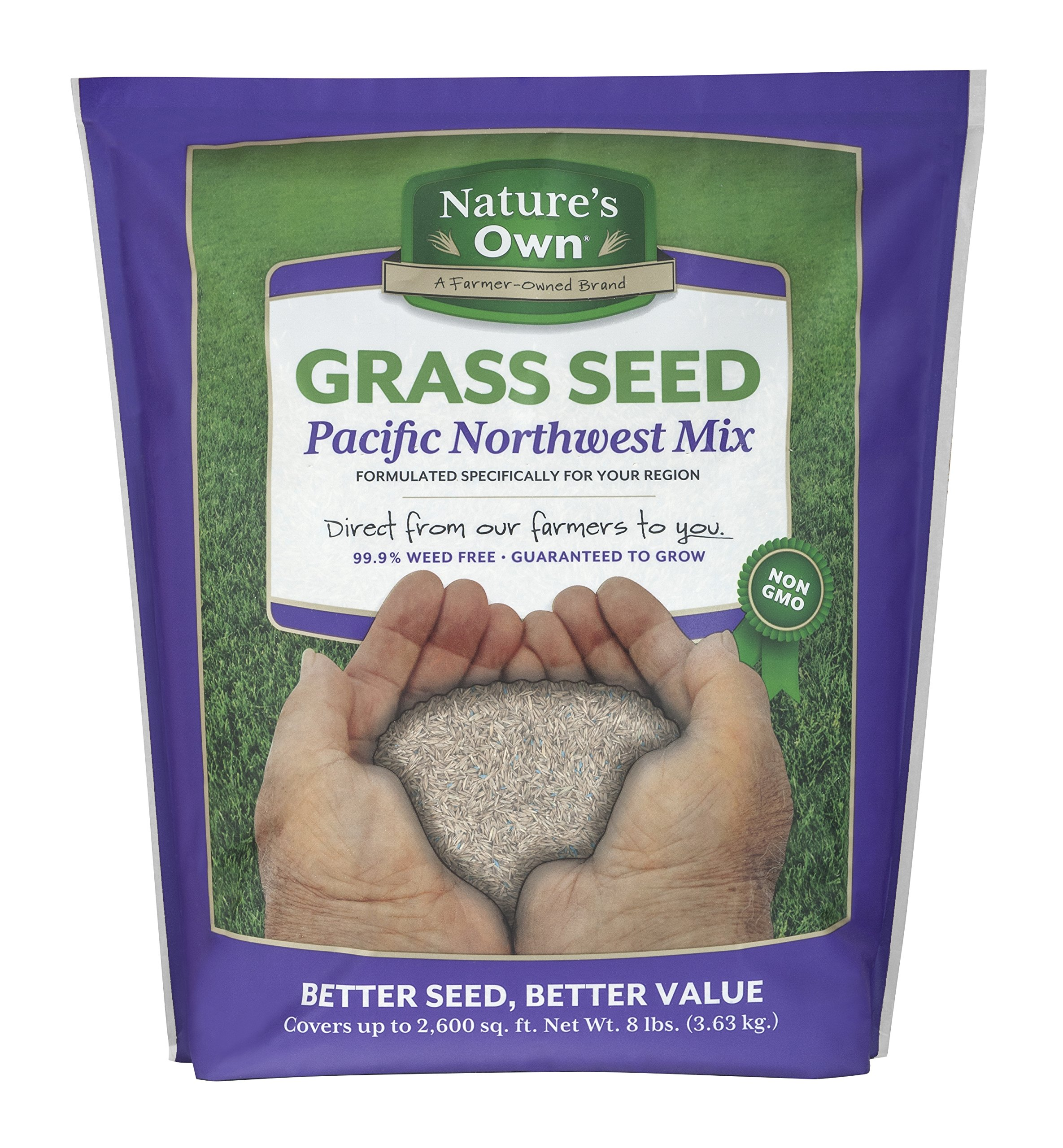 Mountain View Seeds Natures Own Pacific Northwest Mix Grass Seed, 8-pounds by Mountain View Seed (Image #1)