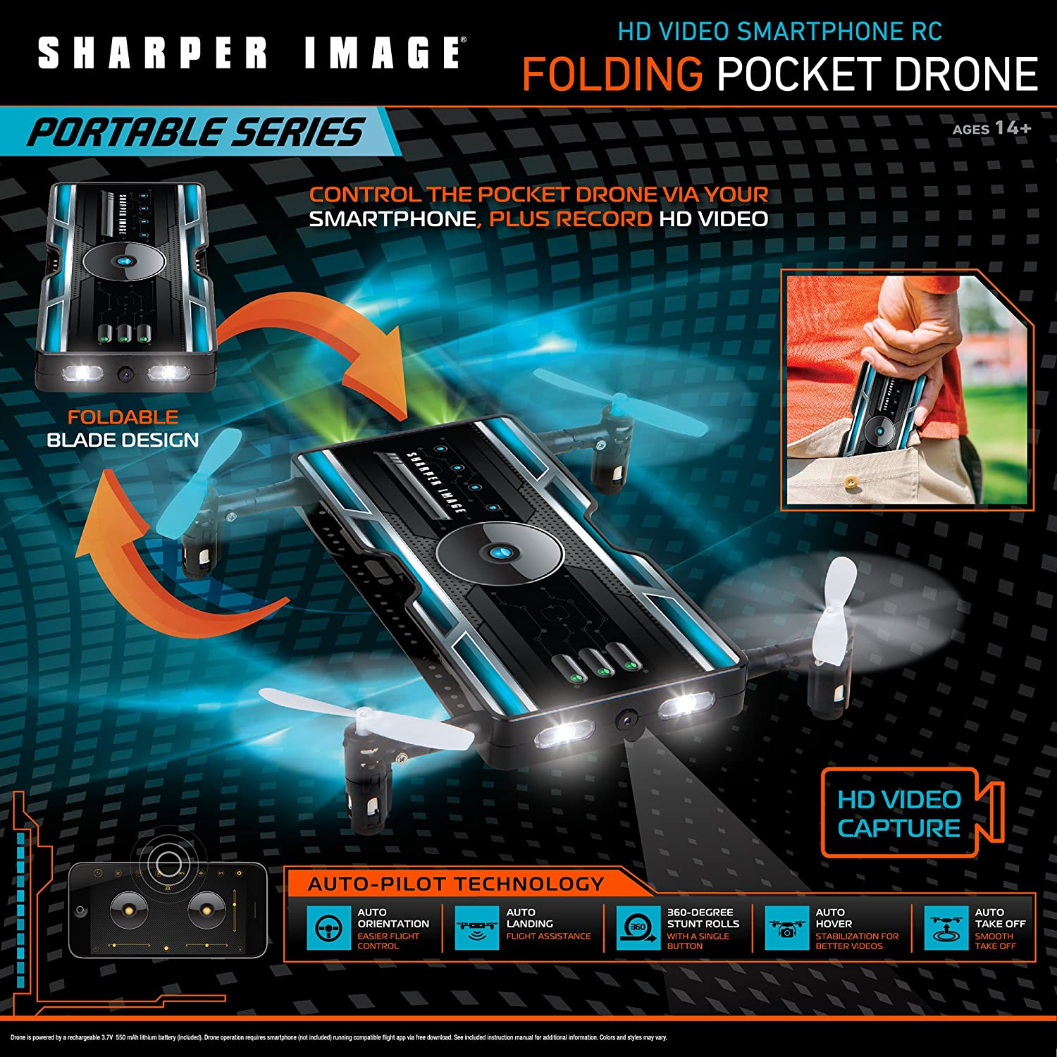 Amazoncom Sharper Image Hd Video Streaming Smartphone Rc Foldable