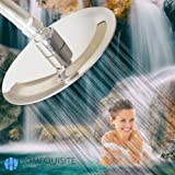 """Shower-Head: High Pressure Rainfall - 6"""" Stainless Steel Luxury Rain Flow - Adjustable Brass Swivel - Silicone Nozzles Power Spray - Homequisite at home Fixed Spa Massage and Relaxation"""