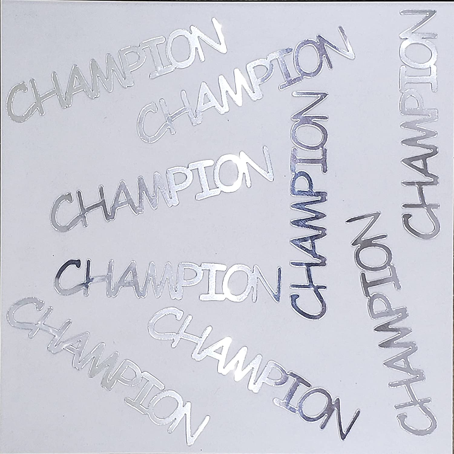 Metallic Confetti Word - CHAMPION in 12 Colors (Also Available in Paper) #4143
