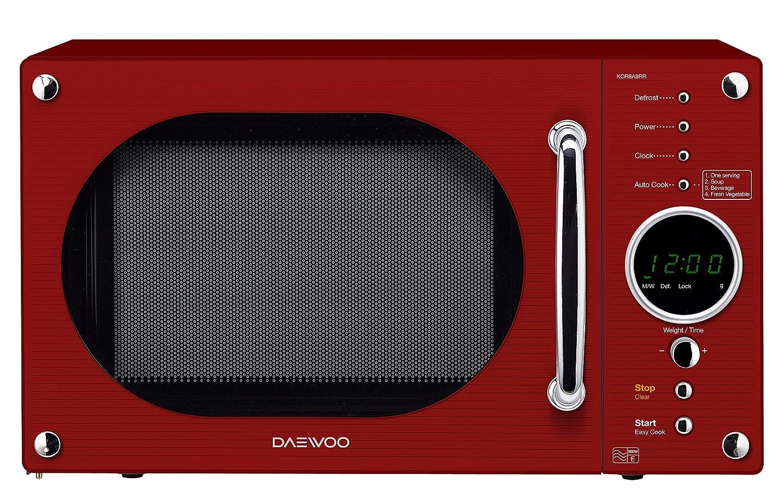 Daewoo Retro Microwave Oven, 23 Litre, Black