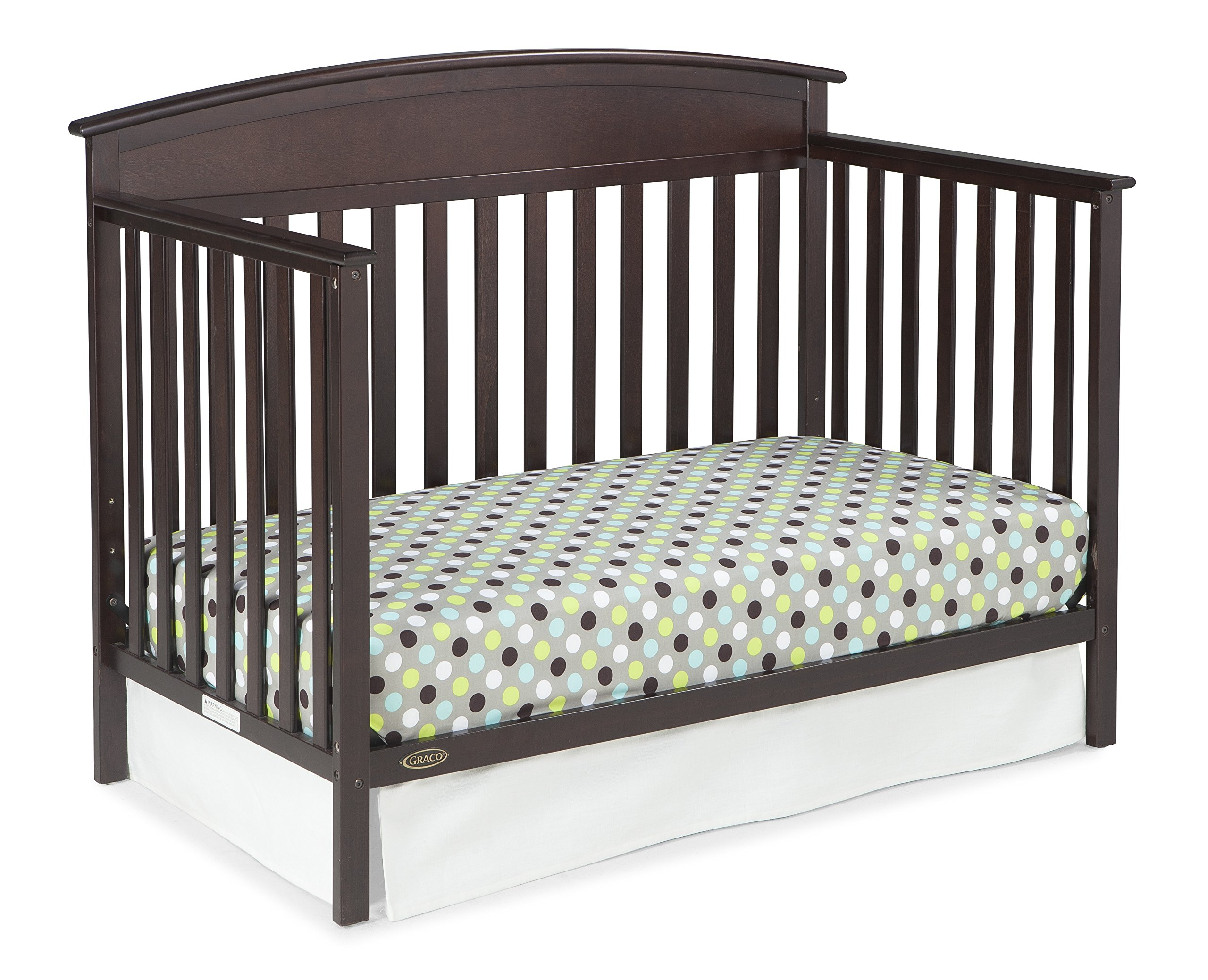 graco benton 5 in 1 convertible crib espresso easily converts to toddler bed ebay. Black Bedroom Furniture Sets. Home Design Ideas