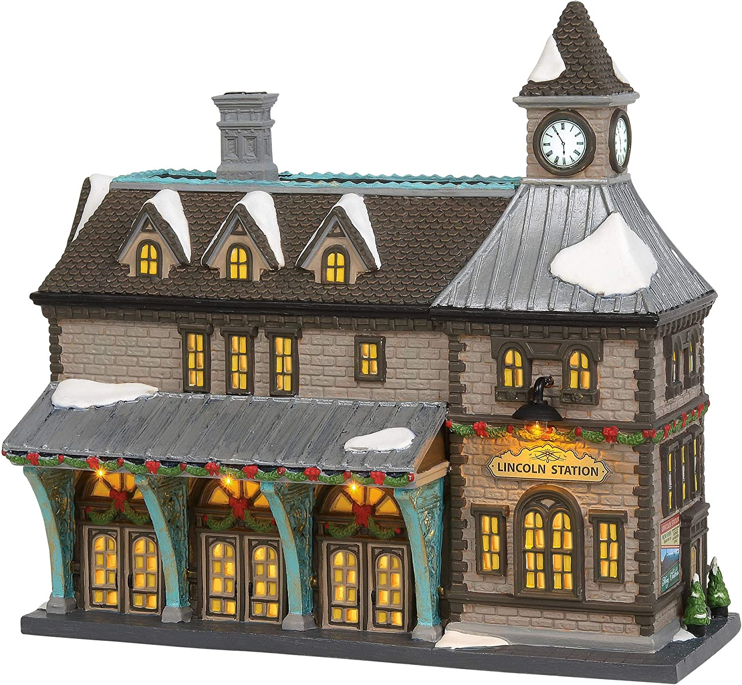 Department 56 Christmas in The City Village Lincoln Station Lit Building with Sound, 9.45 Inch, Multicolor