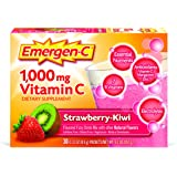 Emergen-C Dietary Supplement Drink Mix With 1000mg Vitamin C, 0.31 Ounce Packets, Caffeine Free (Strawberry-Kiwi Flavor, 30 Count)