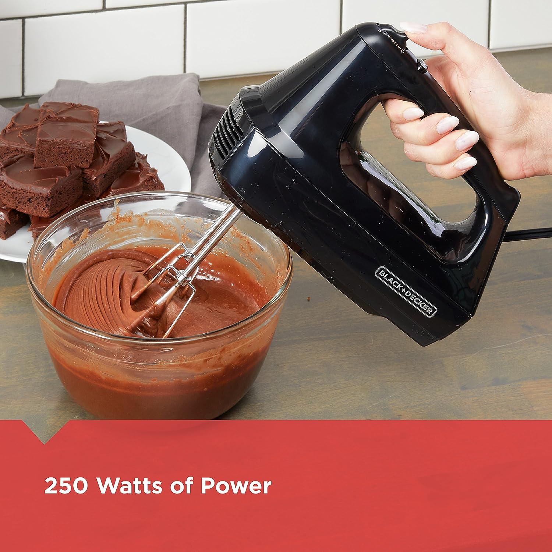 BLACK+DECKER 6-Speed Hand Mixer with 5 Attachments & Storage Case